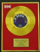 "BILLY FURY - 24 Carat Gold 7"" Disc - JEALOUSY"